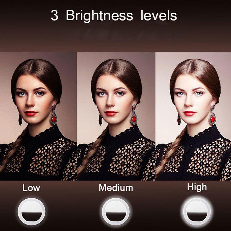 Selfie light LED med tre ljusstyrkor