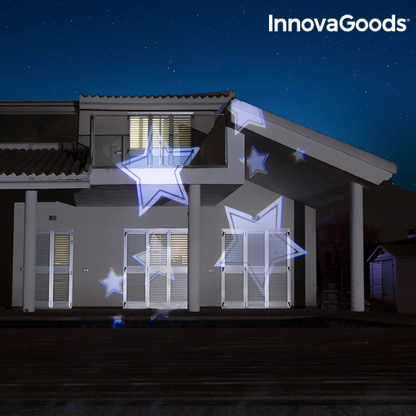 Projektorlampa för husvägg med stjärnor
