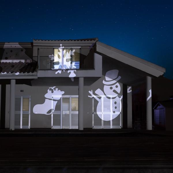 Projektorlampa LED för Husfasad med julbelysning