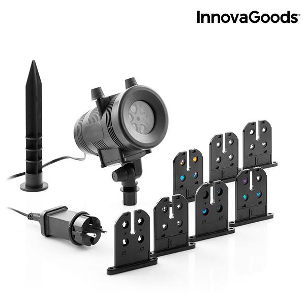Projektorlampa LED för Husfasad med 7 olika temaskärmar