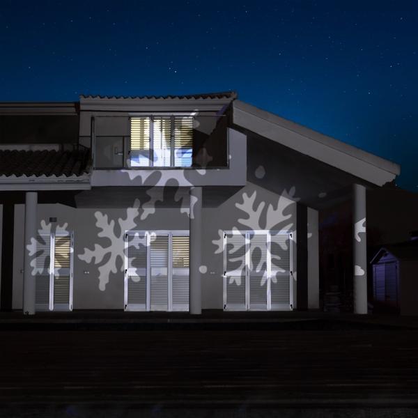 Projektorlampa LED med stjärnbelysning för husfasad