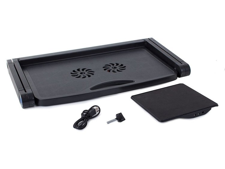 Laptopbord med flera vinklar och plats för mus