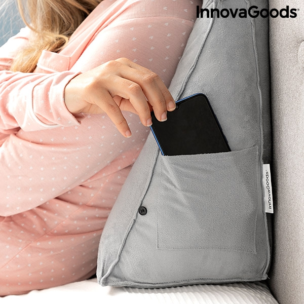 Läskudde med ficka för mobiltelefon