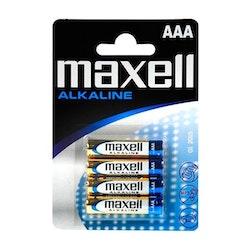 Alkaliska Batterier MAXELL AAA 1,5 V (4-pack)