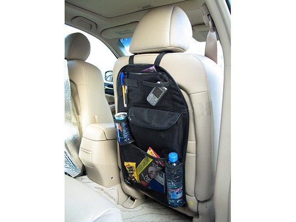 Organisera i bilen med förvaring för bilsätet
