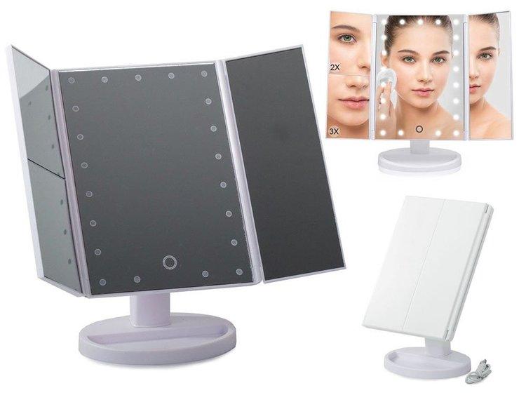 Sminkspegel med LED och Förstoring