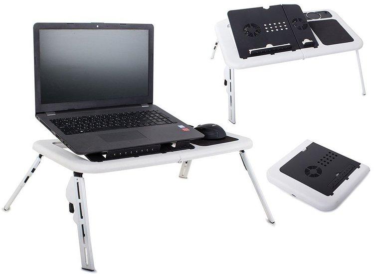 Justerbart Laptopbord med Fläktar