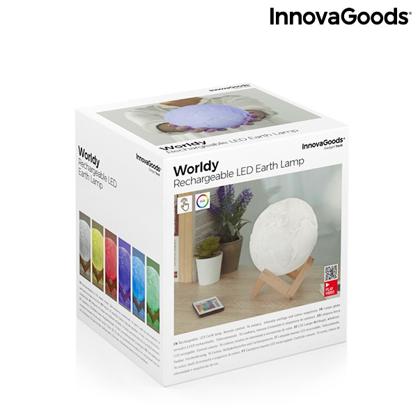 Jordglobslampa LED Multicolor Worldy
