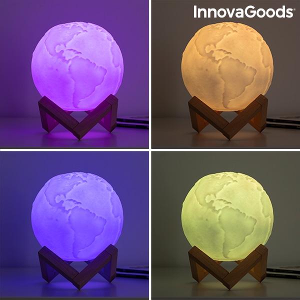 LED-lampa jordglob med flera färger