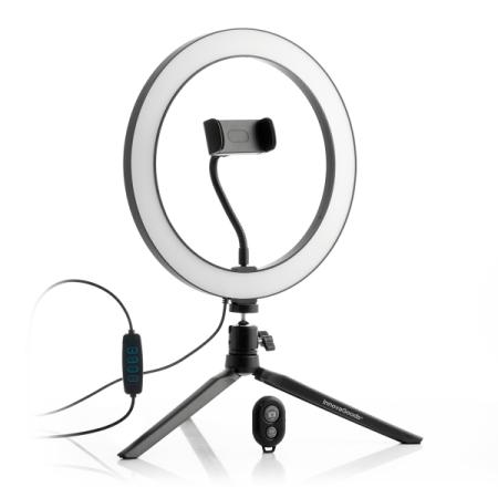 Selfie-Ringljus LED med Stativ & Fjärrkontroll