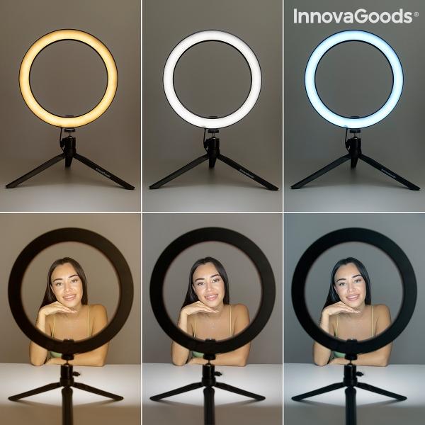 3 olika led ljus för selfie videor