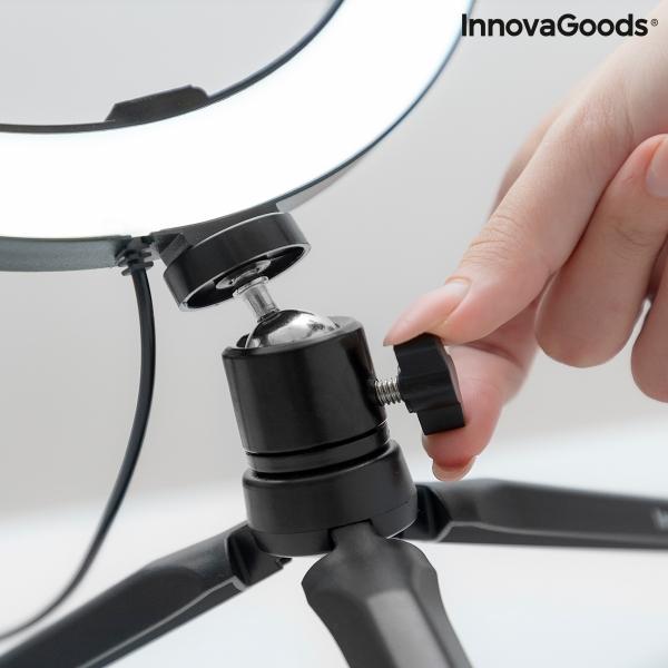 Selfie-Ringljus LED med Stativ & Fjärrkontroll Ø 26 cm