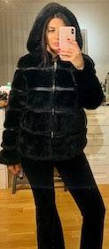 Celine Faux Fur Jacket Offwhite