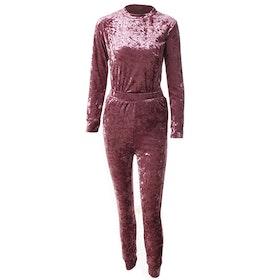 Mrs. Velvet Tracksuit Crushed  Pink