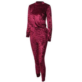 Mrs. Velvet Tracksuit Crushed Red