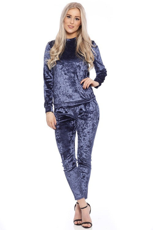 Mrs. Velvet Tracksuit Crushed Midnight Blue