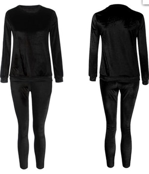 Mrs. Velvet Tracksuit Frosty Black