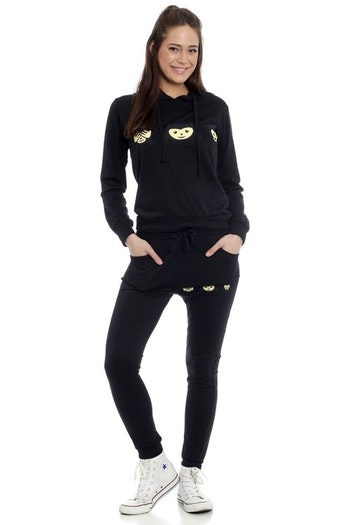Three Wise Monkeys Tracksuit Black