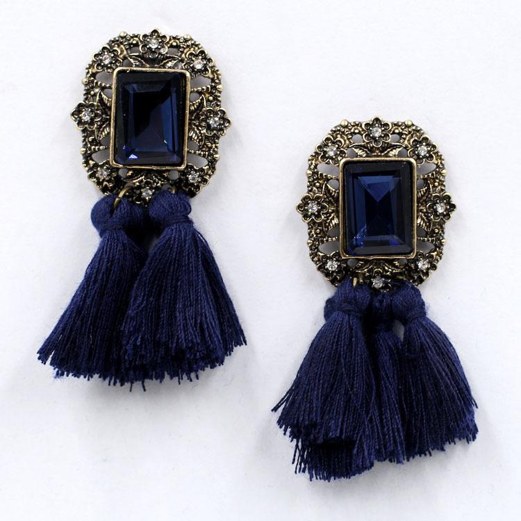 Nahla Dark Blue Örhängen
