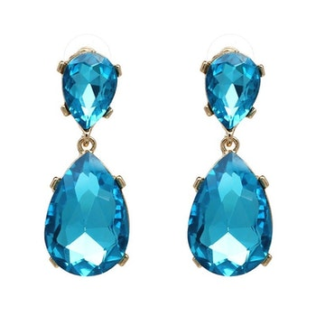Lilo (big) Turquoise Drop Örhängen