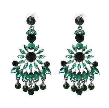Nazly Crystal Green Örhängen