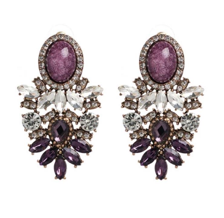 Nala Marble Purple Örhängen