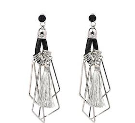 Frida Tassle Silver Gray Örhängen