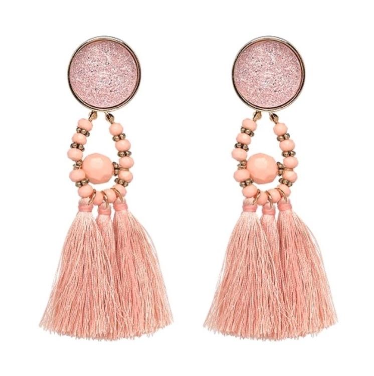 Amina Glam Baby Pink Örhängen