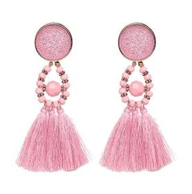 Amina Glam Pink Örhängen