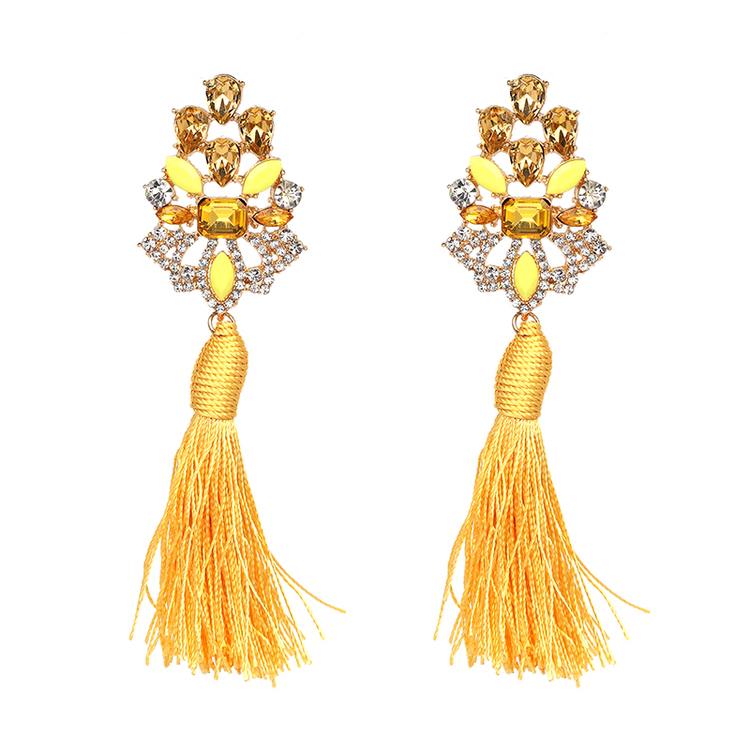Örhängen Stina Yellow Tassel