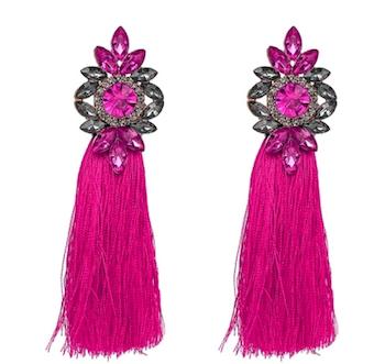 Bella Tassel Hot Pink Örhängen