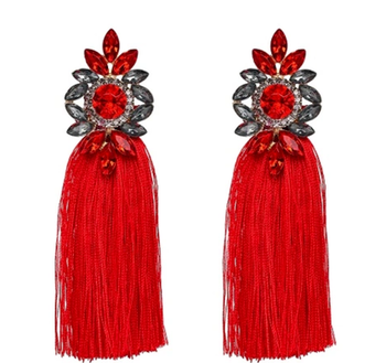 Bella Tassel Red Örhängen
