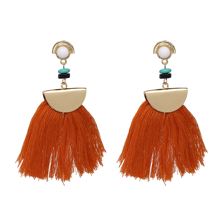 Carol Orange Tassel Örhängen