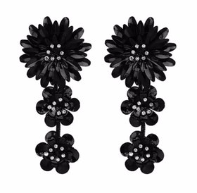Magdalena Earrings Black