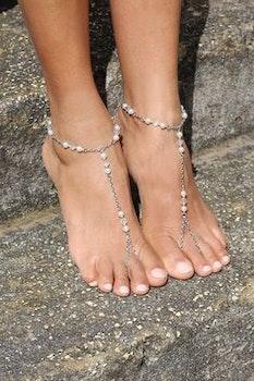 Zoe Foot Chain Silver