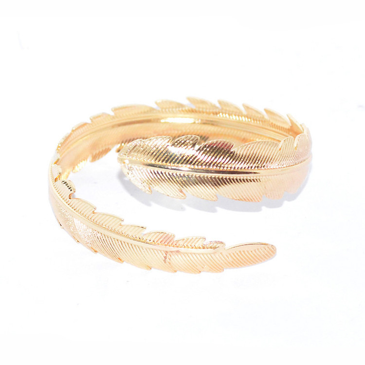 Golden Feather Bracelet