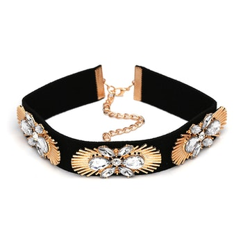Abha Golden/ Clear Choker