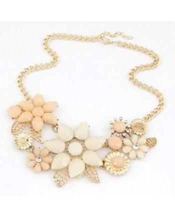 Flora Beige Gold Halsband