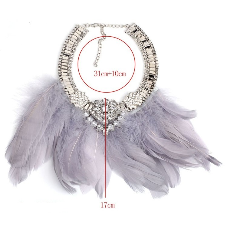 Feather Black Halsband