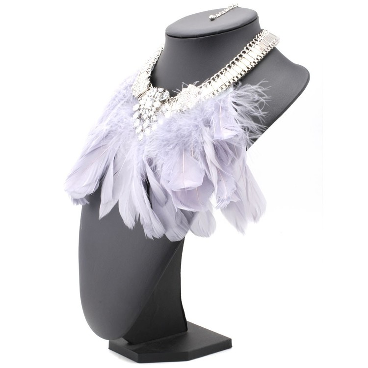 Feather Grey Halsband