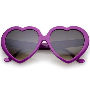 Heart  Sunglasses Purple