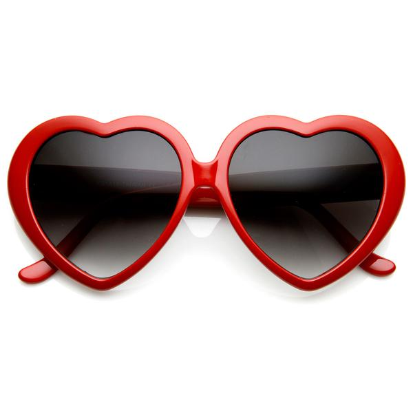 Heart Sunglasses Red