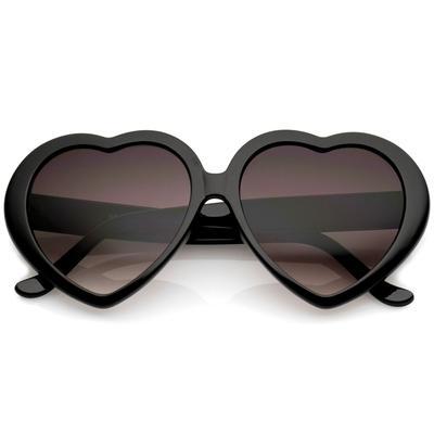 Heart Sunglasses Black