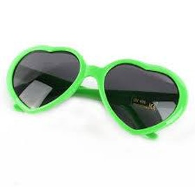 Heart Sunglasses Green