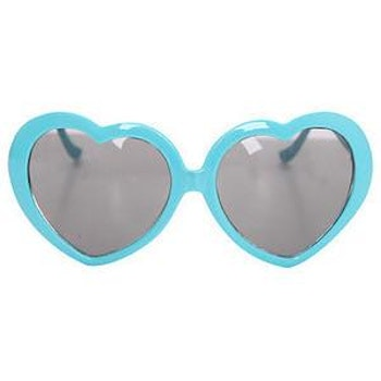 Heart Sunglasses Turquoise