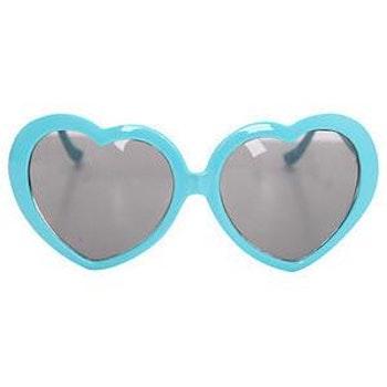 Heart Sunglasses Turquoise