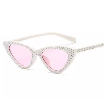 Cindy Sunglasses White/Pink
