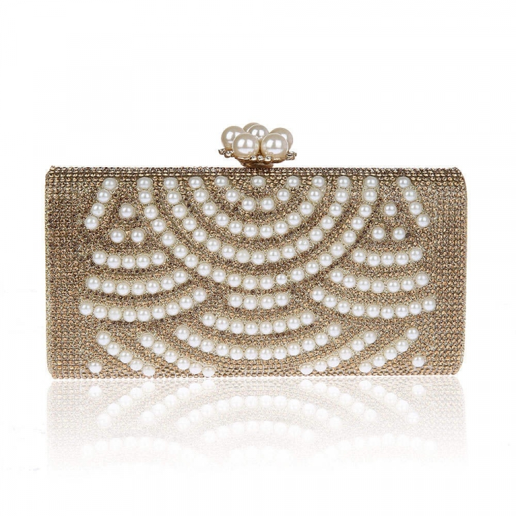Golden Pearls Clutch