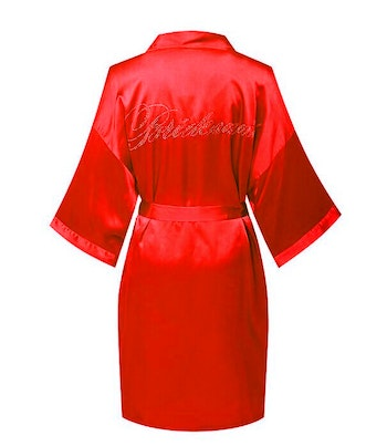 Bridesmade Robe Red