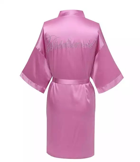 Bridesmade Robe Pink
